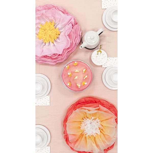 Let's Party! Seidenpapierblumen | Rico Design – rosa/orange