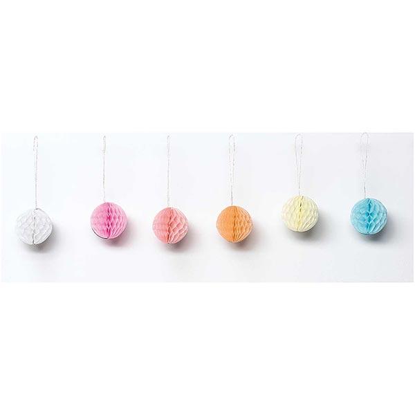 Que la fête commence! Boules alvéolées Mini Pastel | Rico Design