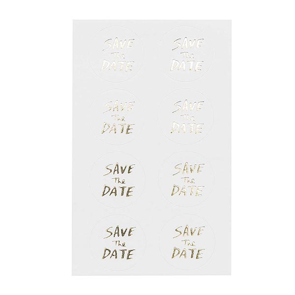 Sticker Save The Date| Rico Design – weiss/gold