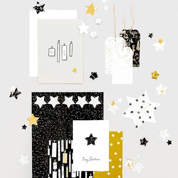 Bloc de papier à motifs Nostalgic Christmas | Rico Design – noir