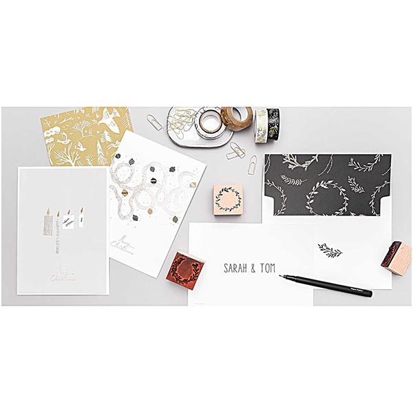 Bloc de cartes postales Nostalgic Christmas  | Rico Design – noir