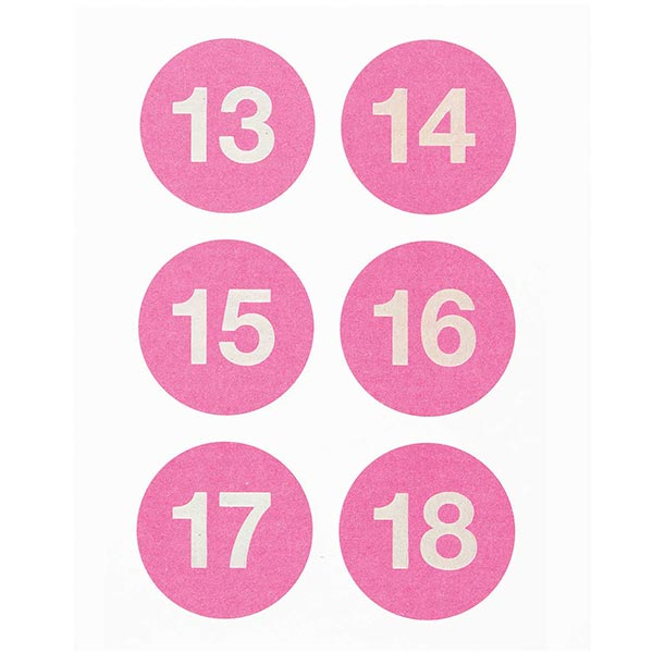 Calendrier de l'Avant Sticker | Rico Design – rose vif