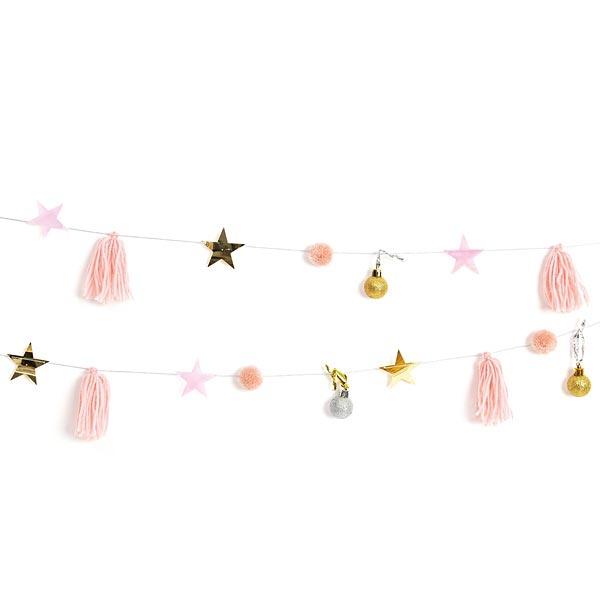 Girlande Quasten Pastell | RICO DESIGN  – rosa