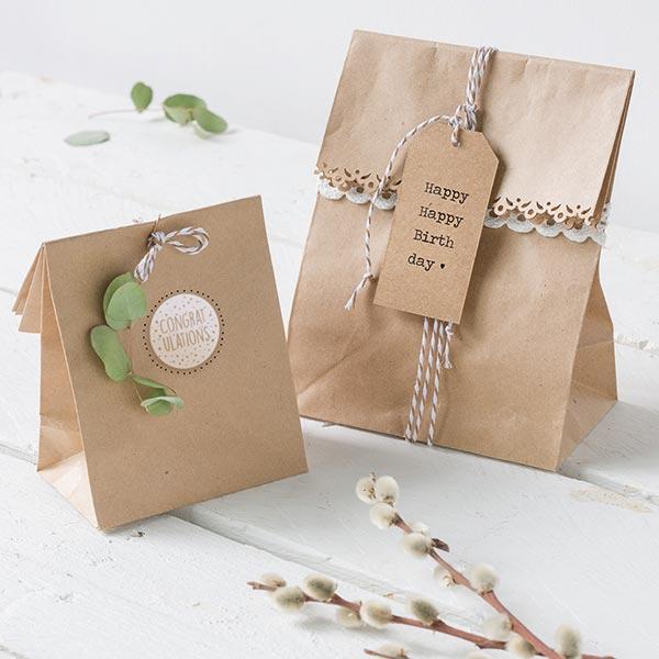 Pochettes cadeaux petit [ 25 Pièces ] – nature
