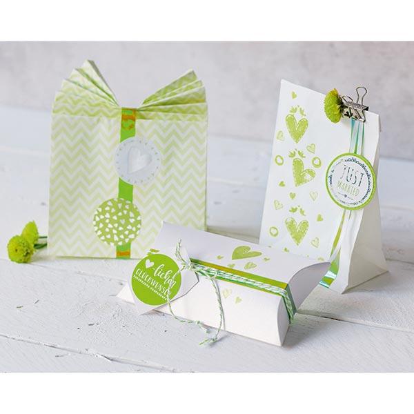 Pochettes cadeaux [ 12 Pièces ] – vert tendre