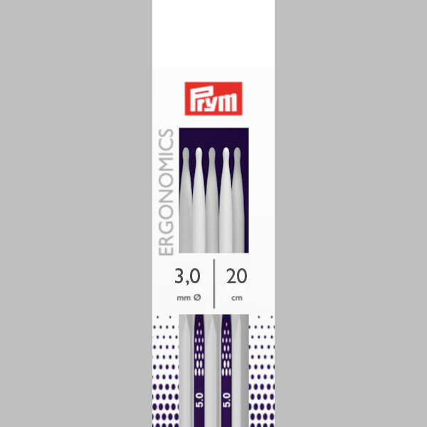 3,0 | 20 cm Strumpfstricknadel Ergonomics | Prym