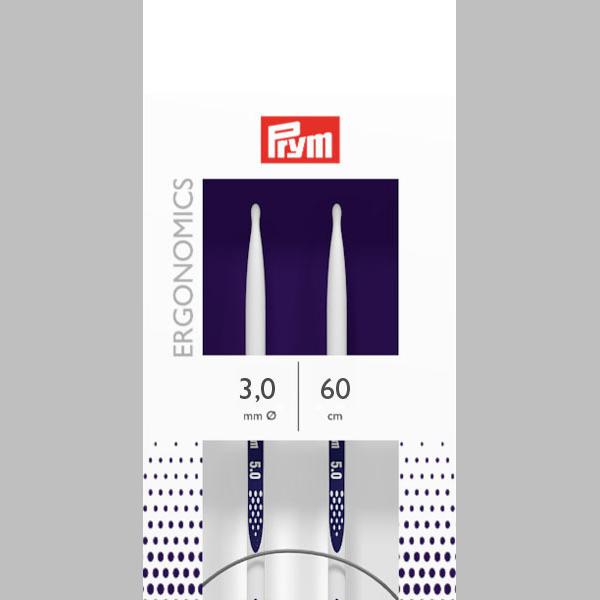 3,0   60 cm Rundstricknadel Ergonomics   Prym