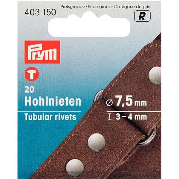 Rivets creux Klemmber [20 Pièces | Ø 7,5 mm] - argenté| Prym
