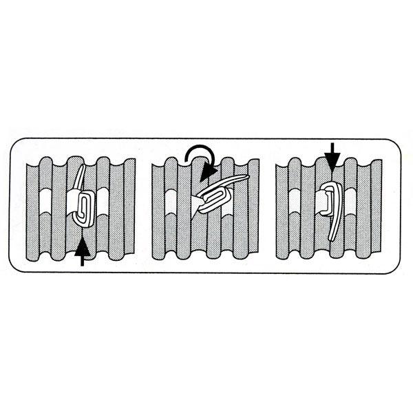 Crochets de rideau, 30 unités – blanc   Prym