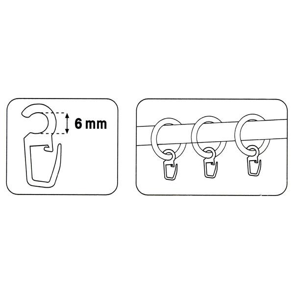 Crochets à clip [6 mm] 10 pcs – transparent | Prym