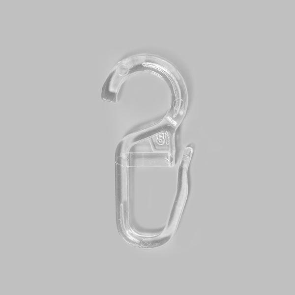 Crochets à clip [10 mm] 10 pcs – transparent | Prym