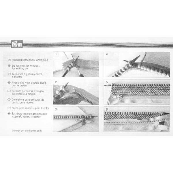 75 cm, Zweiwege Strickreißverschluss  Prym (000)
