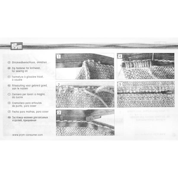 70 cm, Zweiwege Strickreißverschluss | Prym (000)