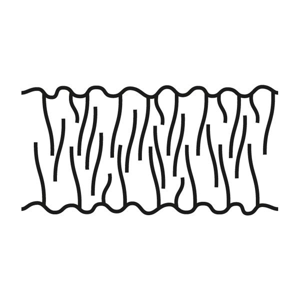 Ruban fronceur, 50 mm – blanc   Gerster