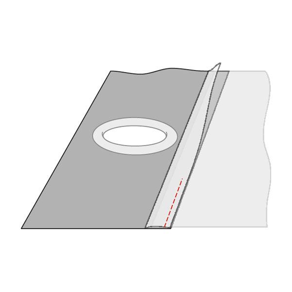 Bande à œillets, 100 mm – gris | Gerster