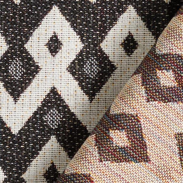 Tissu de décoration et d'ameublement Jacquard Triball – noir