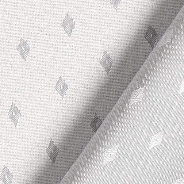 Tissu damassé Jacquard Losanges – gris clair