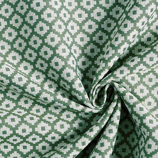 Tissu de décoration d'extérieur  Losanges – olive
