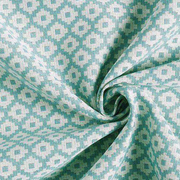 Tissu de décoration d'extérieur  Losanges – vert menthe