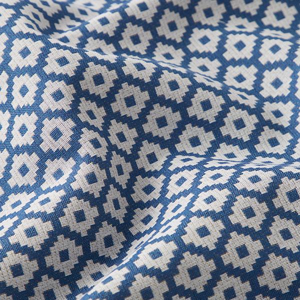 Tissu de décoration d'extérieur  Losanges – bleu