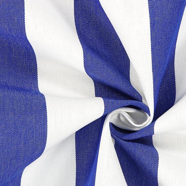 Tissu d'extérieur Stores Rayures Toldo – blanc/bleu roi