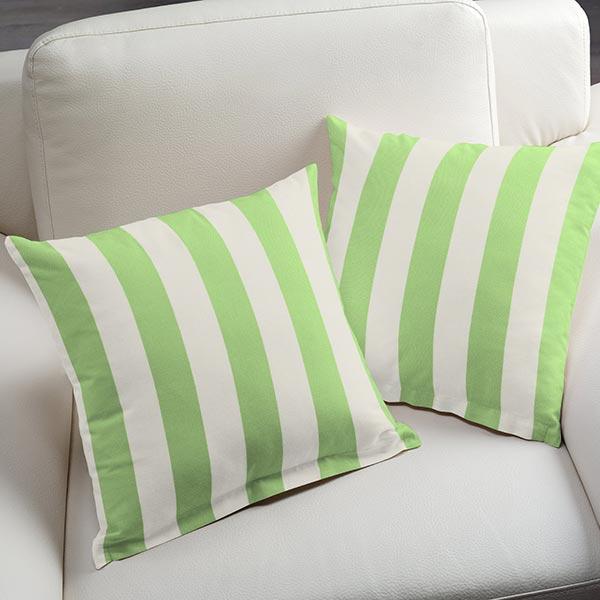 Tissu d'extérieur Stores Rayures Toldo – blanc/vert clair