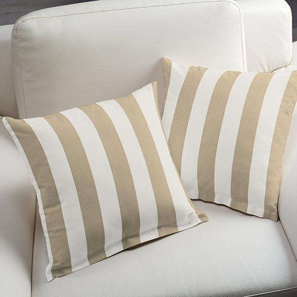 Tissu d'extérieur Stores Rayures Toldo – blanc/beige