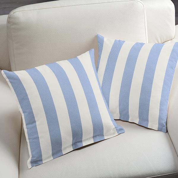 Tissu d'extérieur Stores Rayures Toldo – blanc/bleu clair