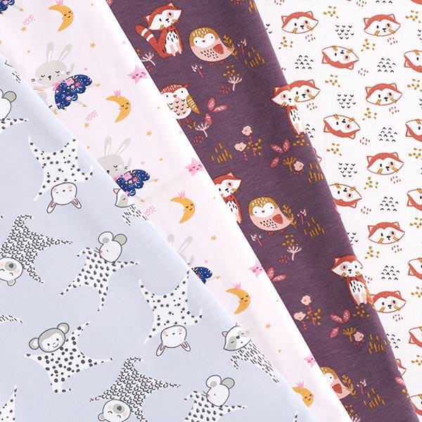 Jersey coton Tête de petit panda – blanc