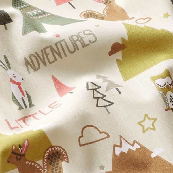 Cretonne Petits animaux aventuriers – beige