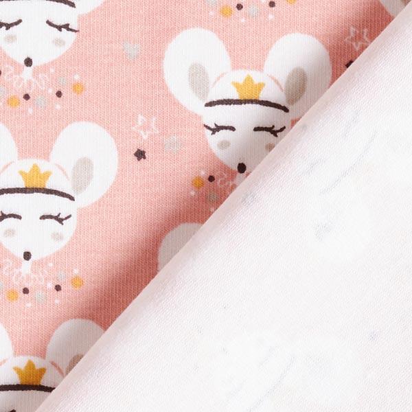 Jersey coton Souris princesse – rose
