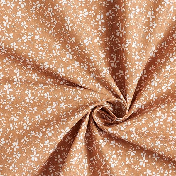 Tissu en coton Cretonne Petites fleurs – terre cuite