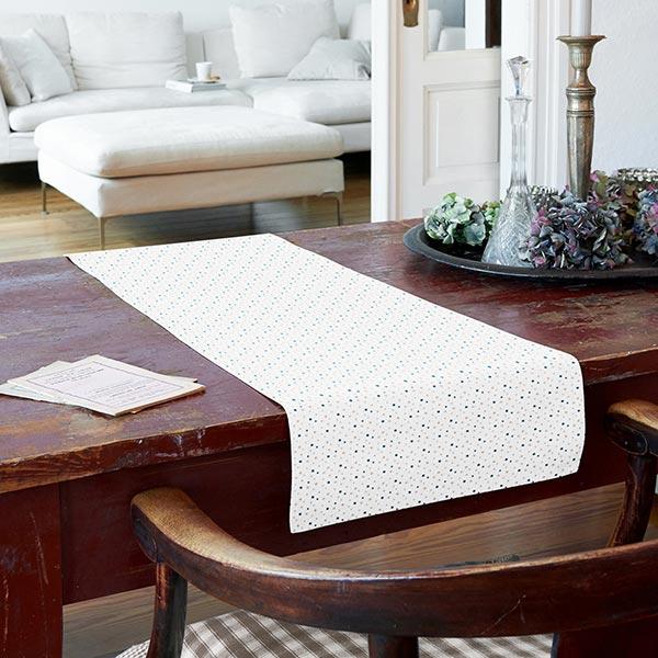 Tissu en coton Cretonne Petites étoiles – blanc