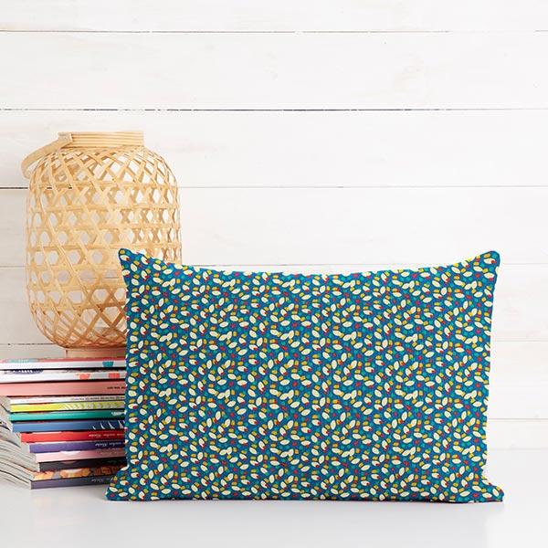 Tissu en coton Cretonne Taches – bleu