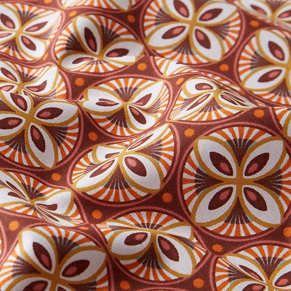Dekostoff Cretonne Mandala – bordeauxrot