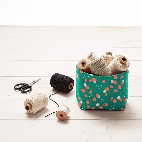 Tissu en coton Cretonne Taches – vert foncé