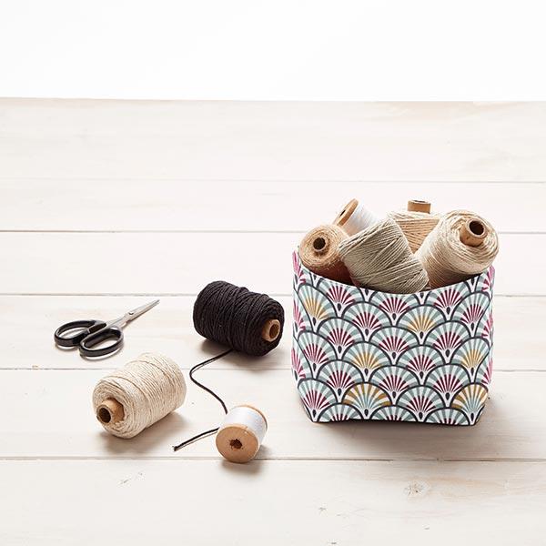 Tissu en coton Cretonne Éventail – argent