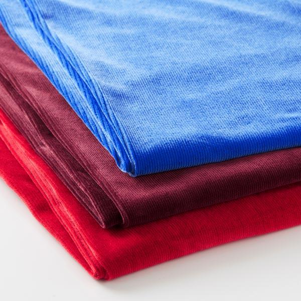 Velours à côtes fines jersey – bleu roi