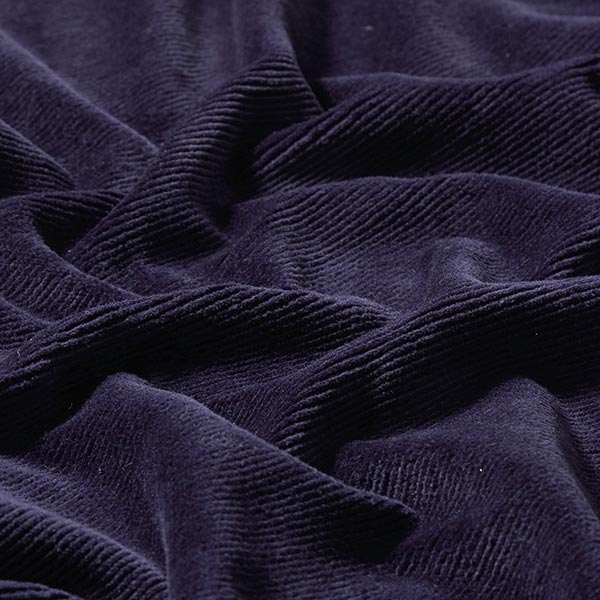 Velours à côtes fines jersey – bleu marine