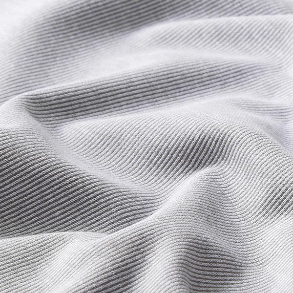 Jacquard maille Rayures étroites – gris/blanc