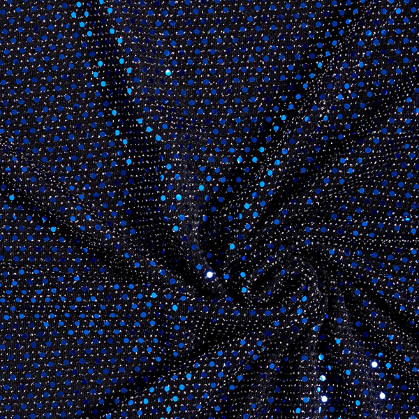 Jersey à paillettes Points étincelants – bleu roi