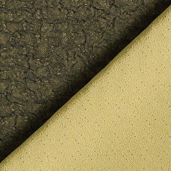 Tissu froissé double tissage mélange viscose – olive clair/noir