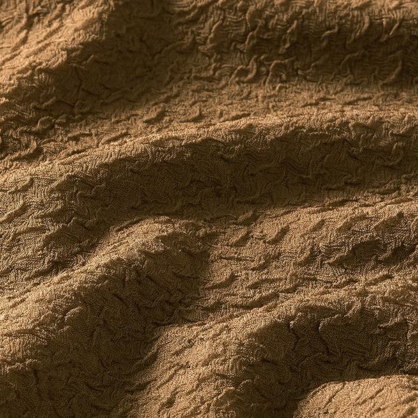 Tissu froissé double tissage mélange viscose – marron