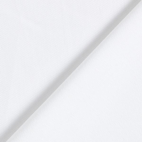 Sergé Tissu de coton mélangé Uni – blanc