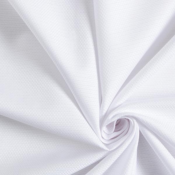 Jacquard d'habillement Tissu de coton mélangé Uni – blanc