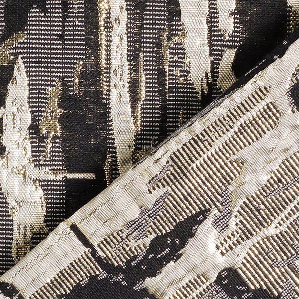 Brocart Motif abstrait – noir/or