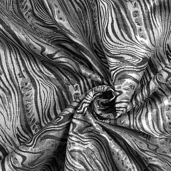 Brocart Marbre – noir/argent