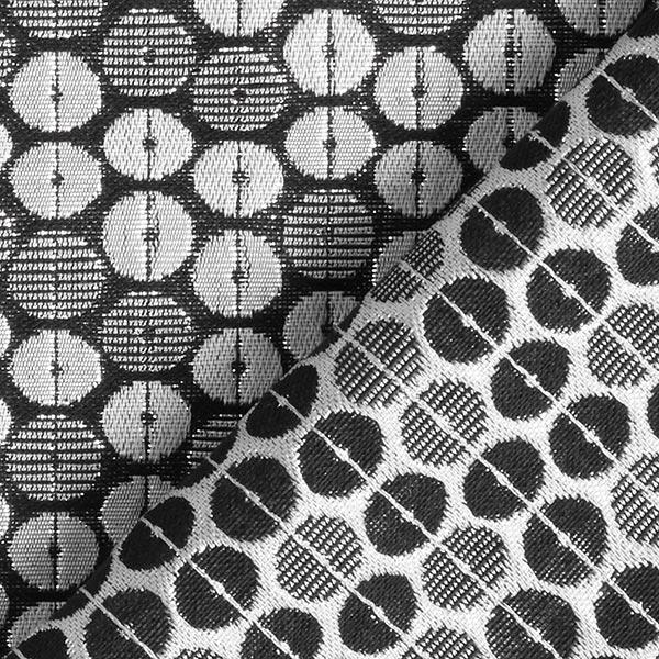 Jacquard d'habillement Lurex Cercles 10 mm – noir/argent