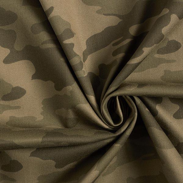 Sergé coton Stretch Camouflage – kaki