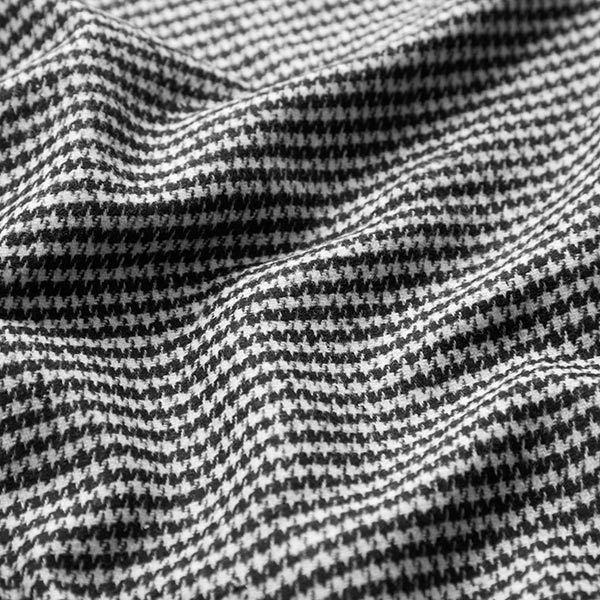 Tissu pour pantalon et costume Pied-de-poule – noir/blanc